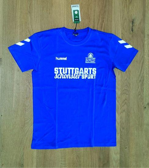 """Bild von T-Shirt """"Stuttgarts schönster Sport"""" blau Frauen"""