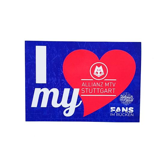 """Bild von Aufkleber """"I love my Allianz MTV Stuttgart"""""""
