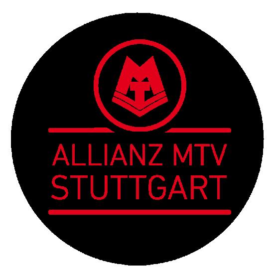 Bild von Aufkleber rund Allianz MTV Stuttgart Logo transparent
